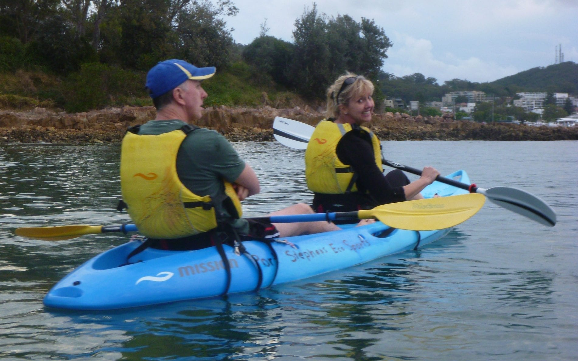 Jenny Kayaking with her husband